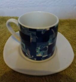 Espresso cup and saucer, VGC, £3 ONO