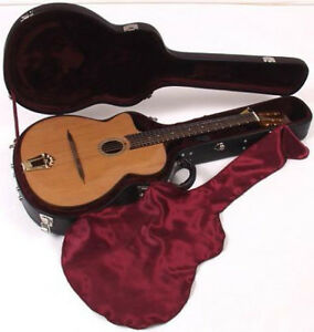 Left handed gypsy guitar w plush hard case