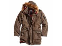 NEW HEAVY 2 IN ONE SURPLUS RAW VINTAGE XYLONTUM PARKA COST £130 ONLY £50
