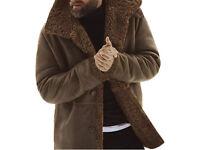 Men's winter, outdoor, windproof, shearling jacket - New