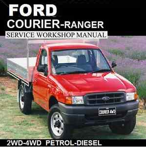 FORD COURIER - RANGER 1998-2006 PD-PE-PG Series WORKSHOP MANUAL CDROM