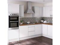 White gloss kitchen offer Bargain
