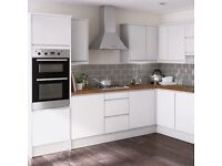 White gloss kitchen sale price...