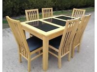 Rectangle dining/kitchen table & 6 chairs