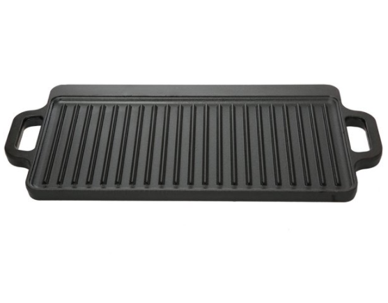 Cast Iron Griddle Reversible Grill Pan Double Camp BBQ Skill
