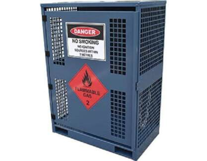 Forklift Gas Cylinder Cage. Capacity 2, 4, 6, 8, or 12 Cylinders
