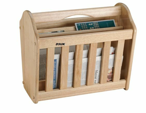 NEW  HEVEA WOOD MAGAZINE RACK NEW STYLISH DESIGN RACK