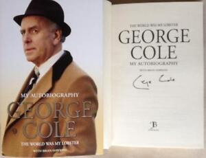 Hand-Signed-book-Autobiography-GEORGE-COLE-The-World-Was-My-Lobster-COA