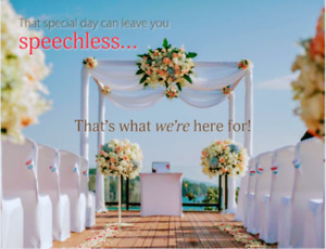 Allow me to craft the perfect wedding speech