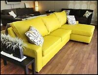 HAPPY NEWS! Reduced price sectional! YELLOW is the New Black!