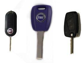 Fiat grande punto, Fiat 500 Non-Remote Car Key - cut and programmed