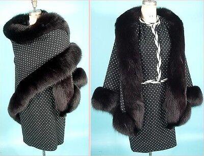 Vintage Womens Lanvin Suit W  Matching Fur  Museum Piece From Antiquedress Com