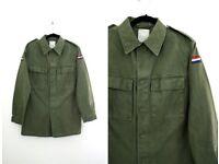 Dutch military vintage 80's shirt ( jacket ) size M