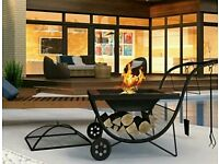Outdoor Fire Pit Portable Fireplace BBQ Barbecue Bowl Grill Garden Patio Heate