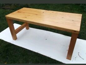 Solid pine coffee table.
