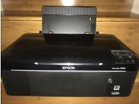 Epson stylus SX130 comes with ink and cables