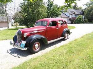 1936 Plymouth flat 6