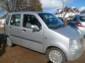 Vauxhall Agila 1.2 16v 2002 5 Dr hatchback low Mileage 58680 Warented