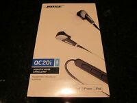 Bose QC20I headphones Noise cancelling in ear brand new