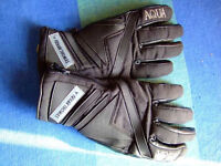 FRANK THOMAS AQUA MENS MOTORCYCLE GLOVES.