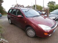 Estate Ford Focus 1.8 i 16v Ghia 5dr Estate 2001 Y Reg 81168 Miles