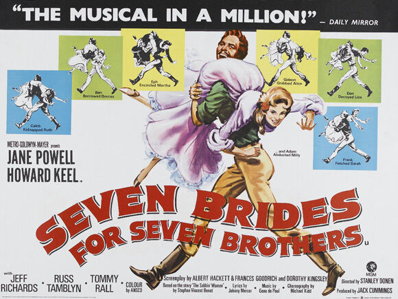 SEVEN BRIDES FOR SEVEN BROTHERS Movie POSTER 30x40 Howard Keel Jane Powell Russ