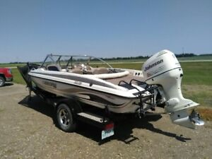 2005 Stratos 191FS  Boat with 150 HP Johnson Motor