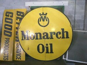 """Reclaimed """"Monarch Oil"""" Sign Kitchener / Waterloo Kitchener Area image 1"""