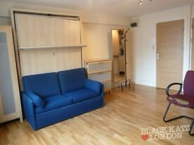 (EC1N)(Farringdon) Stunning Modern Self Contained Studio (Wood Floors)