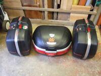 GIVI MAXIA LARGE MONOKEY TOP BOX AND E45 PANNIERS