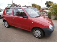 IDEAL 1st CAR Fiat Seicento 1.1 Active 3dr Hatchback 2004 53 Reg 60696 Miles p/x welcome