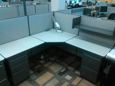 "HAWORTH PLACES 50"" high 6x6 workstations Excellent condition!"
