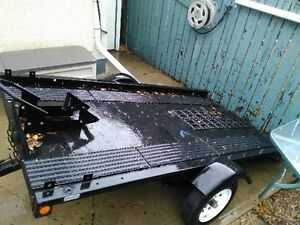 Single place Snowmobile/Quad/Motorcycle trailer.