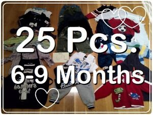 HUGE bag lot of BOYS Clothes (6-9 Months) --- $20 FOR ALL !!!