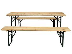 Garden Furniture Wooden Seat Folding Trestle Bench Picnic