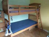bunk bed 3ft solid wood