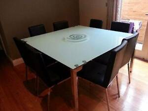9 Piece+matching glass lazy susan Glass Solid Square Table Box Hill Whitehorse Area Preview