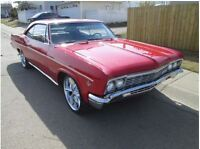 STUNNING CLASSIC Red 1966 CHEVY IMPALA coupe!!