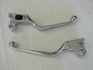 1982-1995-CHROME-HAND-LEVER-SET-FOR-HARLEY-SOFTAIL-DYNA-SPORTSTER-TOURING