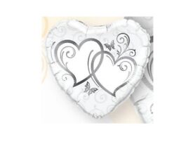 Balloon Decoration Pack Wedding Celebration Silver Hearts