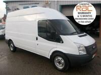 2012 62 FORD TRANSIT LWB HIGH ROOF 350 RWD 6 SPEED 125 BHP FULLY INSULATED REAR