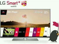 "LG 47"" LED smart 3D wifi built USB MEDIA PLAYER HD FREEVIEW and freesat full hd 1080p ."