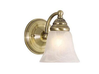 Scone Vaxcel Standford Vanity Bathroom Wall Lamp Lighting Antique Brass (Vanity Scone)