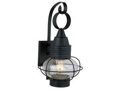 Nautical Outdoor Lighting - ONION Black 8 OUTDOOR LAMP NAUTICAL Landscape LIGHTING Vaxcel Chatham OW21881TB