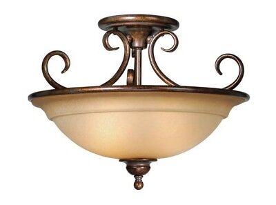 - OMNI ROYAL BRONZE 16DIA SEMI FLUSH CEILING LAMP LIGHTING