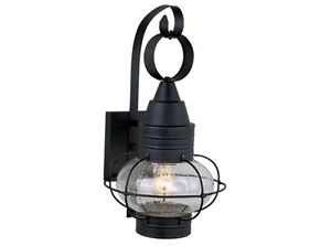 13W large ONION Black OUTDOOR LAMP NAUTICAL LIGHTING vaxcel chatham OW21831TB