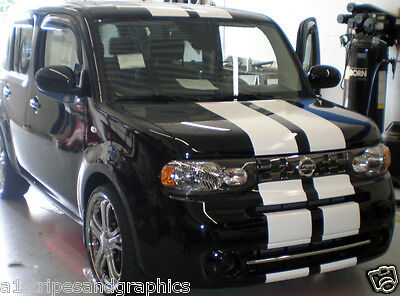 """10"""" Plain Rally stripes Stripe Graphics Graphic Decals Fit Cube Soul"""