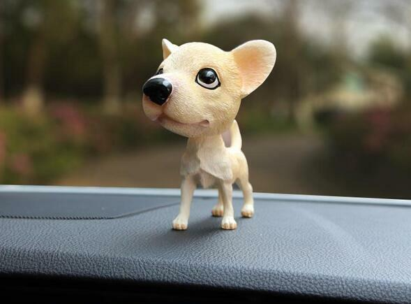 Chihuahua Dog Bobbing Head BobbleHead Doll Toy Car Home Ornaments Decor NEW