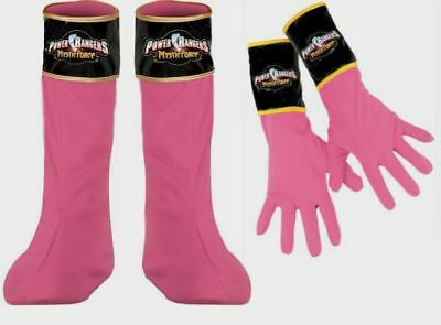 Power Rangers Mystic Force Pink Ranger Boots Covers & Gloves costume New Child (Power Rangers Boots)