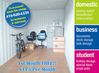 """****BUDGET SELF STORAGE***1st MONTH FREE!!****"""